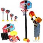 Πλήρες Σετ Παιδικής Μπασκέτας με Βάση, Μπάλα & Ρυθμιζόμενο Ύψος 52-115cm