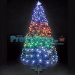 Εντυπωσιακό Χριστουγεννιάτικο Δέντρο Οπτικής ίνας LED WhiteVision 120εκ.