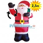 Φουσκωτός Άγιος Βασίλης Γίγας 250cm με κίνηση.