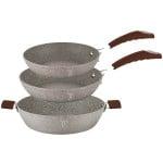 Σετ Μαγειρικά Σκεύη 3 τεμ. από 2 τηγάνια και 1 ρηχή κατσαρόλα Berlinger Haus BH-1187