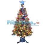 Εντυπωσιακό Χρυσό Χριστουγεννιάτικο Δέντρο Οπτικής ίνας LED Golden Illusion 120εκ.