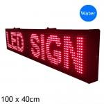 Αδιάβροχη Ηλεκτρονική Επιγραφή LED 100x40 cm Kόκκινη