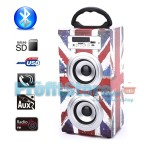 Φορητό Ηχοσύστημα Bluetooth 2x5W USB/SD/AUX/FM Radio/Multimedia Player BBQ KBQ-602 OEM