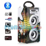 Φορητό Ηχοσύστημα Bluetooth 2x5W USB/SD/AUX/FM Radio/Multimedia Player BBQ KBQ-6022 OEM
