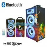 Φορητό Ηχοσύστημα Bluetooth 2x5W USB/SD/AUX/FM Radio/Multimedia Player BBQ KBQ-6023 OEM
