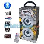 Φορητό Ηχοσύστημα Bluetooth 2x5W USB/SD/AUX/FM Radio/Multimedia Player BBQ KBQ-6024 OEM