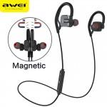Μαγνητικά Handsfree Ακουστικά Λαιμού Ψείρες AWEI με Bluetooth και Μικρόφωνο