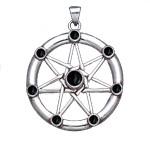 Φυλαχτό Επτάγραμμο Αστέρι με Μαύρο Όνυχα για Πνευματική Εξέλιξη