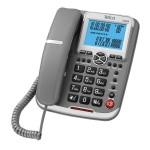 Τηλέφωνο Επιτραπέζιο Telco GCE 6122 Γκρι Αναγνώριση Κλήσης