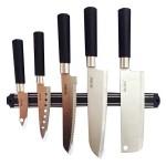 Μαχαίρια Κουζίνας από Ανοξείδωτο Ατσάλι με Μαγνητική Βάση Τοίχου - Σετ των 5 Τεμαχίων