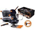 Σετ Μαγειρικά Σκεύη 11 Τεμ. με Τριπλή Μαρμάρινη Επίστρωση και Σετ με 3 Εργαλεία BH-1117