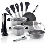 Σετ Μαγειρικά Σκεύη 15 Τεμ. με Τριπλή Μαρμάρινη Επίστρωση και Σετ με 6 Εργαλεία BH-1115