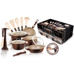 Σετ Μαγειρικά Σκεύη 15 Τεμ. με Τριπλή Μαρμάρινη Επίστρωση και Σετ με 6 Εργαλεία BH-1116