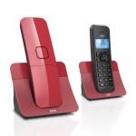 Ασύρματο Τηλέφωνο με Τηλεφωνητή Dect AEG Voxtel D150  Κόκκινο-Μαύρο