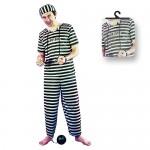 Αποκριάτικη Ανδρική Στολή  Φυλακισμένος  008929