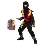 Αποκριάτικη Παιδική Στολή  Ninja Κόκκινος  081039