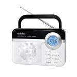 Φορητό Ψηφιακό  Ραδιόφωνο Μπαταρίας Ρεύματος Usb-Sd  Audioline TR-471-U  Μαύρο Λευκό