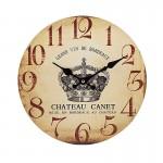 Ξύλινο Ρολόι Τοίχου Vintage QUARTZ 30cm ART433-CHATEAU