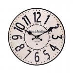Ξύλινο Ρολόι Τοίχου Vintage QUARTZ 30cm ART433-2-PARIS 1960