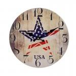 Ξύλινο Ρολόι Τοίχου Vintage QUARTZ 30cm ART433-5 USA