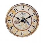 Ξύλινο Ρολόι Τοίχου Vintage QUARTZ 30cm ART433-6 HOME