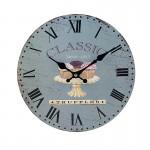 Ξύλινο Ρολόι Τοίχου Vintage QUARTZ 30cm ART433-7 TRUFFLES