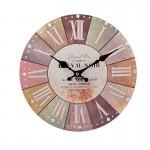Ξύλινο Ρολόι Τοίχου Vintage QUARTZ 30cm ART433-8 NOIRE