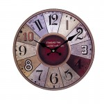 Ξύλινο Ρολόι Τοίχου Vintage QUARTZ 30cm ART433-9 STANDARD TIME