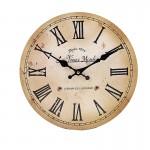 Ξύλινο Ρολόι Τοίχου Vintage 30cm ART433-11 MOULIN