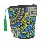 Γυναικεία Τσάντα με  Κεντητό Σχέδιο με Φουντάκι - 35010 OEM