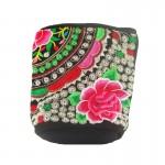 Γυναικεία Τσάντα με  Κεντητό Σχέδιο με Φουντάκι - 35011 OEM