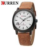 Ανδρικό Ρολόι Classic Indian Curren M8139 Brown & White