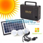 Ηλιακό Σύστημα Φωτισμού & Φόρτισης με Panel, Μπαταρία & 3 Λάμπες LED GDLITE+