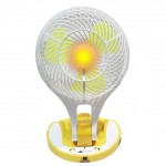 Φορητός Ανεμιστήρας 17εκ με Ισχυρό Φωτιστικό LED 200 Lumens JR-5580