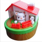 Παιδικός Κουμπαράς Κινούμενη Γατα και Ποντίκι με Διασκεδαστικούς Ήχους