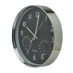 Εντυπωσιακό Ρολόι Τοίχου 30 cm με Υγρόμετρο και Θερμόμετρο XIN 30380