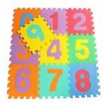 Πολύχρωμο Αφρώδες Δάπεδο puzzle Αριθμοί- Σετ 10 τεμαχίων