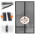Μαγνητική Κουρτίνα Σίτα για πόρτες και παράθυρα Μαύρη - 160x220εκ