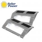 Σετ Ηλιακά Φωτιστικά Εξωτερικού Χώρου με Αισθητήρα Φωτός - LED Solar Stair Light 2 Τεμάχια