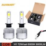 Φώτα Αυτοκινήτου LED COB - 72W H1 6000K -  8000LM S2 AUXMART
