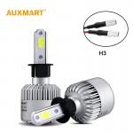 Φώτα Αυτοκινήτου LED COB H3 - 72W / 6000K 8000LM AUXMART