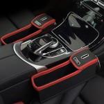 Σετ Θήκες Οργάνωσης Αυτοκινήτου με Ποτηροθήκη και Κουμπαρά Car Seat Crevice