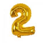 Μπαλόνι Χρυσό 40 εκ Αριθμός 2
