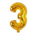 Μπαλόνι Χρυσό 40 εκ Αριθμός 3