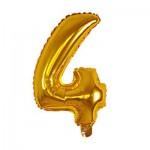 Μπαλόνι Χρυσό 40 εκ Αριθμός 4