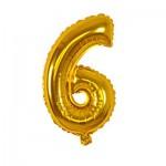 Μπαλόνι Χρυσό 40 εκ Αριθμός 6