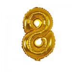 Μπαλόνι Χρυσό 40 εκ Αριθμός 8