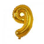 Μπαλόνι Χρυσό 40 εκ Αριθμός 9