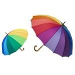 Ομπρέλα Βροχής Ουράνιο Τόξο 16 Ακτίνων 120cm