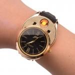 Ρολόι Χειρός Classic Elegance με Επαναφορτιζόμενο Αναπτήρα USB